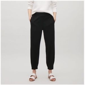 COS Black Joggers Pull-on Pants 10
